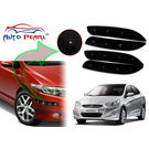 Auto Pearl - Premium Quality Car LED Blinking Bumper Protector for Hyundai Accent - Set of 4Pcs, black