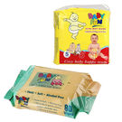 Baby Fun Daipers With Baby Fun Wipes, white