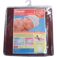 Babyrose Waterproof Baby Sleeping Mat - Medium, maroon, medium