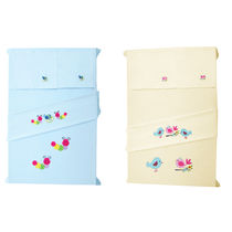 Baby Rap The Birds 'N' Snacking Caterpillars 4 Cot Sheets & 4 Pillow Covers Set, lemon and blue
