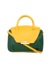 Beau Design Imported PU Leather Sling Bag, yellow