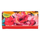 Lomond LM109 Bifold Wallet For Women, floral print and red