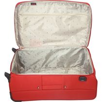 VIP Polyester 75 Cms Soft Sided Suitcase,  red