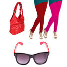 Igypsy Handbag Gift Combo Sale - Pack Of 4,  red