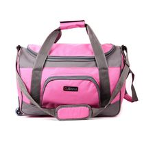 Bleu Travel Bag with Wheels, pink and grey