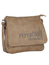 Peperone Saddle Sling Bag (2022), brown