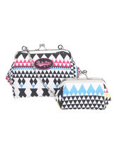 Be For Bag Magda Coin Clutch & Sling Combo, multicolor