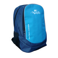 Myarte Stylish Blue Laptop Bag, sky blue and navy blue
