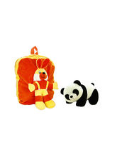 Deals India Kids Shoulder Tshirt Rabit Bag With Free Panda Soft Toy