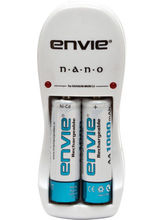 Envie Nano Charger with 2 x 1000 NI-CD Battery, multicolor