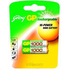 Godrej GP AAA 1000 mAh (2 Pcs) Rechargeable Battery, standard-multicolor