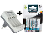 Envie Beetle Charger with Envie AA 1000 4PL Ni-CD Rechargeable Battery, multicolor