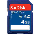 SanDisk Class 4 SDHC 4GB Card, blue