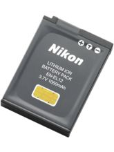 Nikon EN-EL12 Rechargeable Li-ion Battery, black