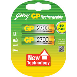 Godrej GP AA 2700 mAh LSD (2 Pcs) Rechargeable Battery, standard-multicolor
