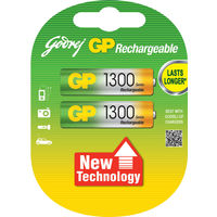 Godrej GP AA 1300 mAh LSD (2 Pcs) Rechargeable Battery, standard-multicolor