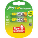 Godrej GP AA 2500 mAh LSD (2 Pcs) Rechargeable Battery, standard-multicolor