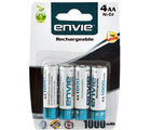 Envie AA 1000 4PL Ni-CD Rechargeable Battery, multicolor