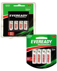 Eveready 700 mAh AA Charger with 4 Battery+ 700 mAh 4 AA Battery Set Combo, multicolor