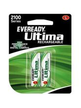 Eveready Ultima Rechargeable Nimh 2100 mAh batteries for Camera 2pcs, multicolor