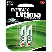 Eveready Ultima Rechargeable Nimh 2100 mAh AA batteries for Camera 2pcs, multicolor