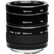 Kenko DG Extension Tubes 12mm, 20mm And 36mm For Canon, standard-black