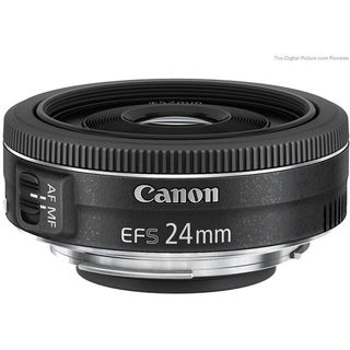 Canon EF-S24mm f/2.8 STM Lens, black