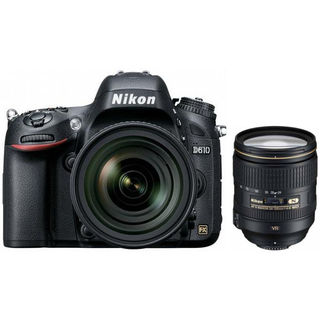 Nikon D610 (Body) Combo+ 24-120mm F/4G ED VR Lens, black