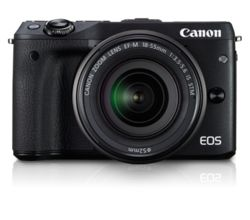 Canon EOS M3 Kit Camera with EF-M18-55 IS STM Lens, black