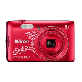 Nikon Coolpix A300 Compact Cameras, red design