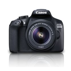 Canon EOS 1300D Kit Dslr Camera (with EF S18-55 IS II Lens),  black