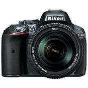 Nikon D5300 DSLR (With AF-S 18-140mm VR Kit Lens),  black