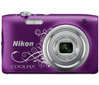 Nikon Coolpix A100 Camera, purple design