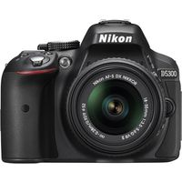 Nikon D5300 DSLR (With AF-S 18-55mm VR II Kit Lens),  black