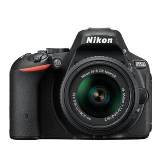 Nikon D5500 DSLR Camera  with AF S 18 55mm VRII Kit Lens , black