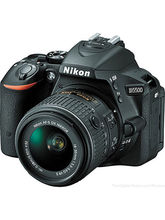 Nikon D5500 DSLR Camera (with D-ZOOM KIT: AF-P 18-55mm VR + AF-S 55-200mm VRII Kit Lenses), black