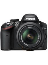 Nikon D3200 DSLR (with AF-S 18-55mm VRII Kit Lens), black