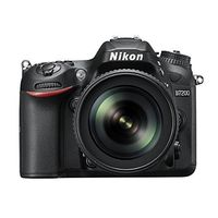 Nikon D7200 DSLR (with AF-S 18-105mm VR Kit Lens),  black
