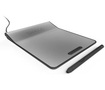 Bamboo Touchpad with digital stylus,  silver black