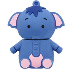 Microware Appu Elephant Shape Designer Fancy Pendrive, standard-multicolor, 8 gb