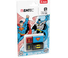 Emtec Batman superman DUO-combo pack 8GB, multicolor
