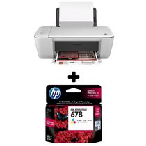 HP Deskjet Ink Advantage 1515 All-in-One Printer+ HP 678 Tri-color Ink Cartridge,  white