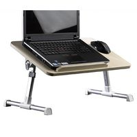 Xgear Folding Laptop Desk with Fan Cooler Sofa & Bed Wood Laptop Stand Notebook Table Computer Desk, multicolor
