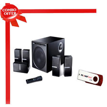 Edifier DA5000 5.1 Speaker with Moser Baer Swivel 8 GB Pen Drive,  black