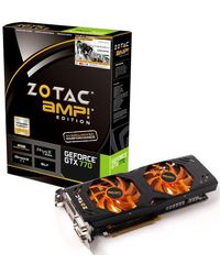 Zotac ZT-70303-10P GeForce GTX 770 AMP Edition 2GB GDDR5 Graphics card, multicolor