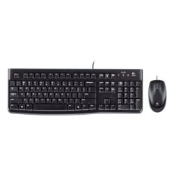 Logitech MK120 Wired Keyboard and Mouse Combo, standard-black