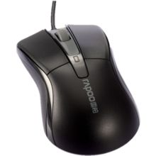 Rapoo N1162 Wired Optical Mouse,  black