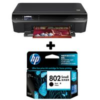 HP Deskjet Ink Advantage 3545 e-All-in-One Printer+ HP 802 Small Black Ink Cartridge,  black