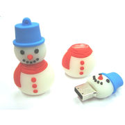 Microware Snowman Shape Designer Fancy Pen Drive, 4 gb, standard-multicolor