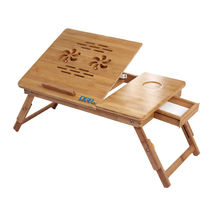 DGB Jumbo-Dual Wooden Laptop Table,  brown